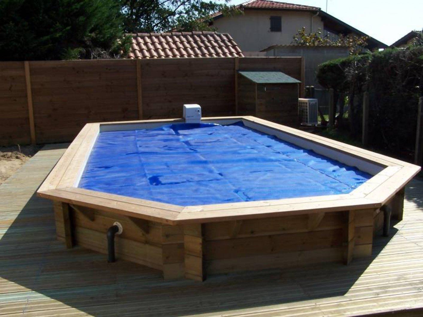 Piscines bois - Hivernage piscine bois semi enterree ...