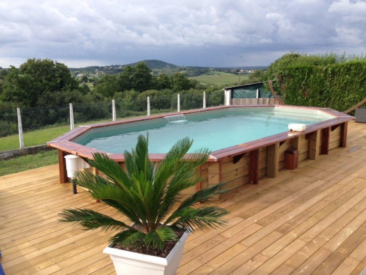 Entreprise de construction de piscines 40 64 - Hivernage piscine bois semi enterree ...